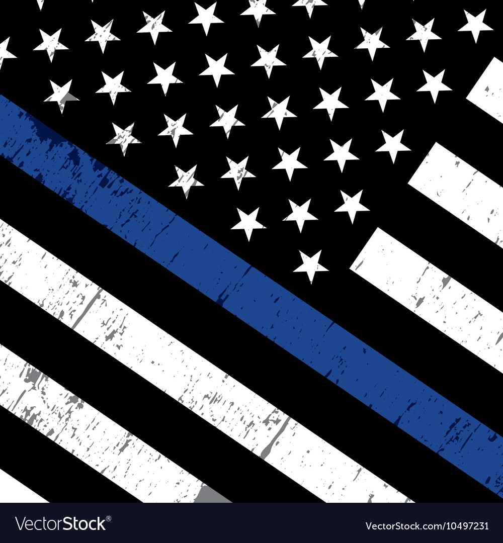 Police Support Flag Background