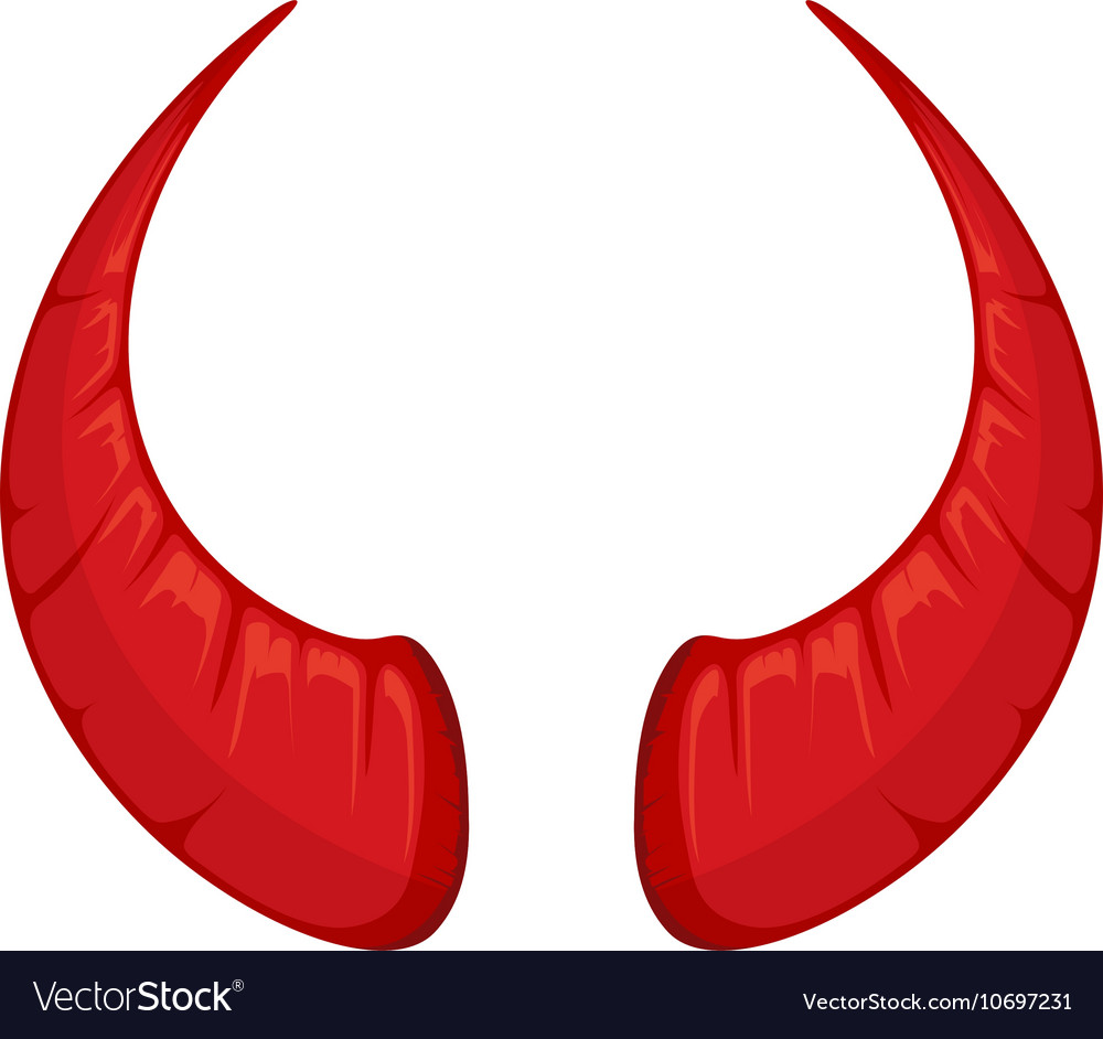 Red Devil horns Royalty Free Vector Image - VectorStock