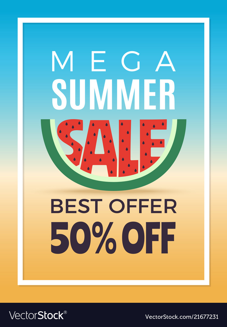 Summer sale design template of advertising