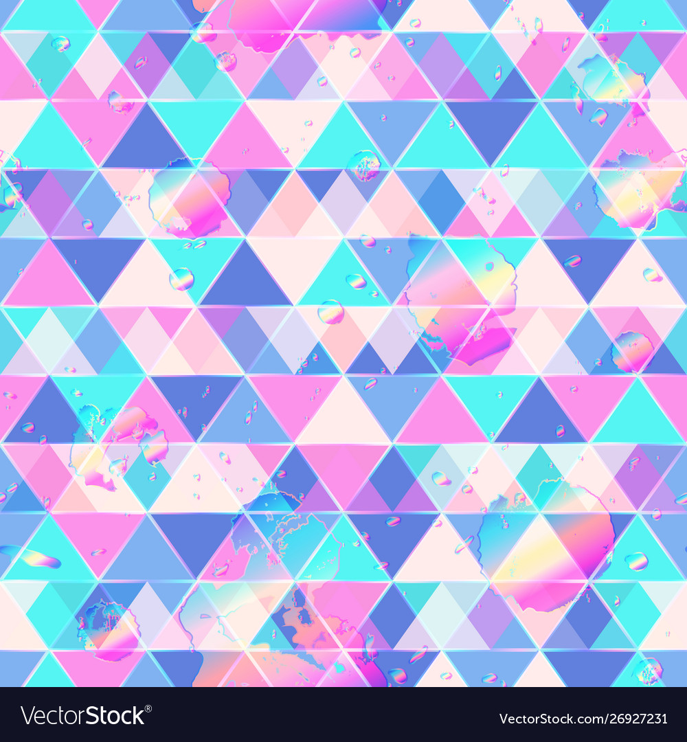 Triangle pattern with drop grunge