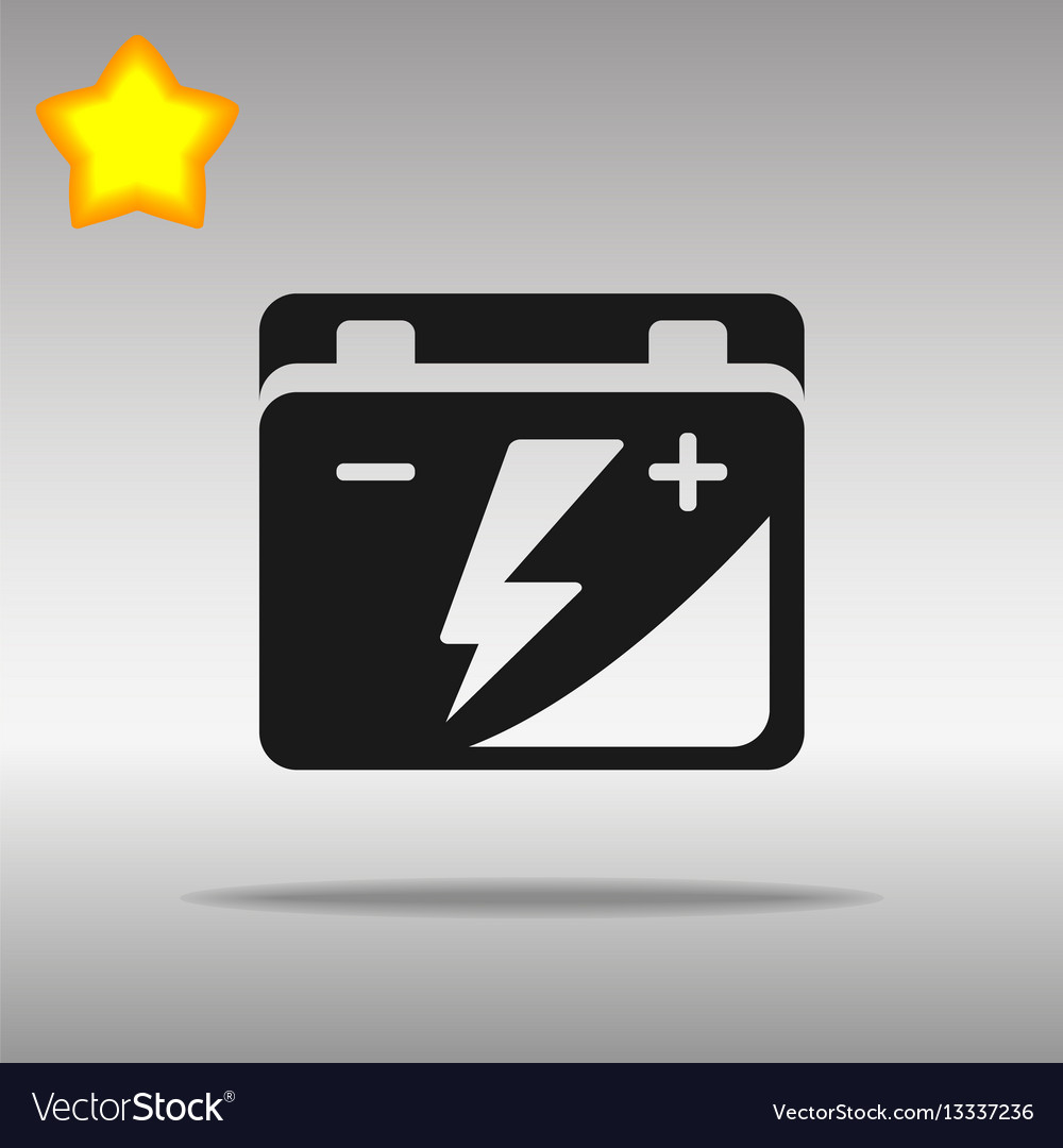Black car battery icon button logo symbol concept vector image