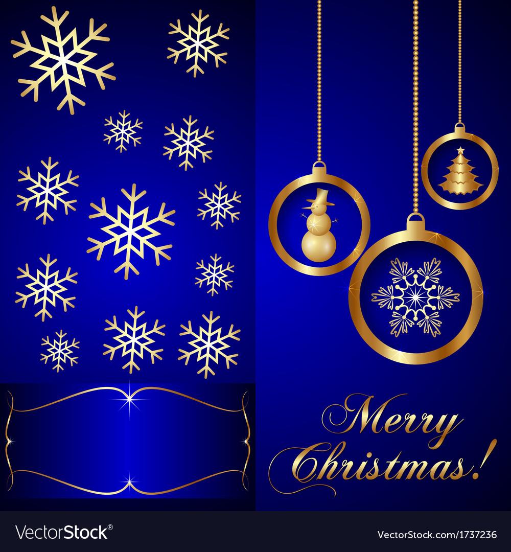 Blue Christmas Invitation Card