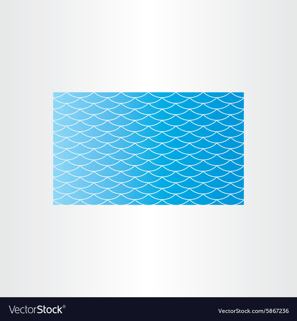 Blue water wave background seamless card