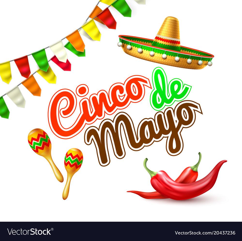 Cinco de mayo mexican party poster banner