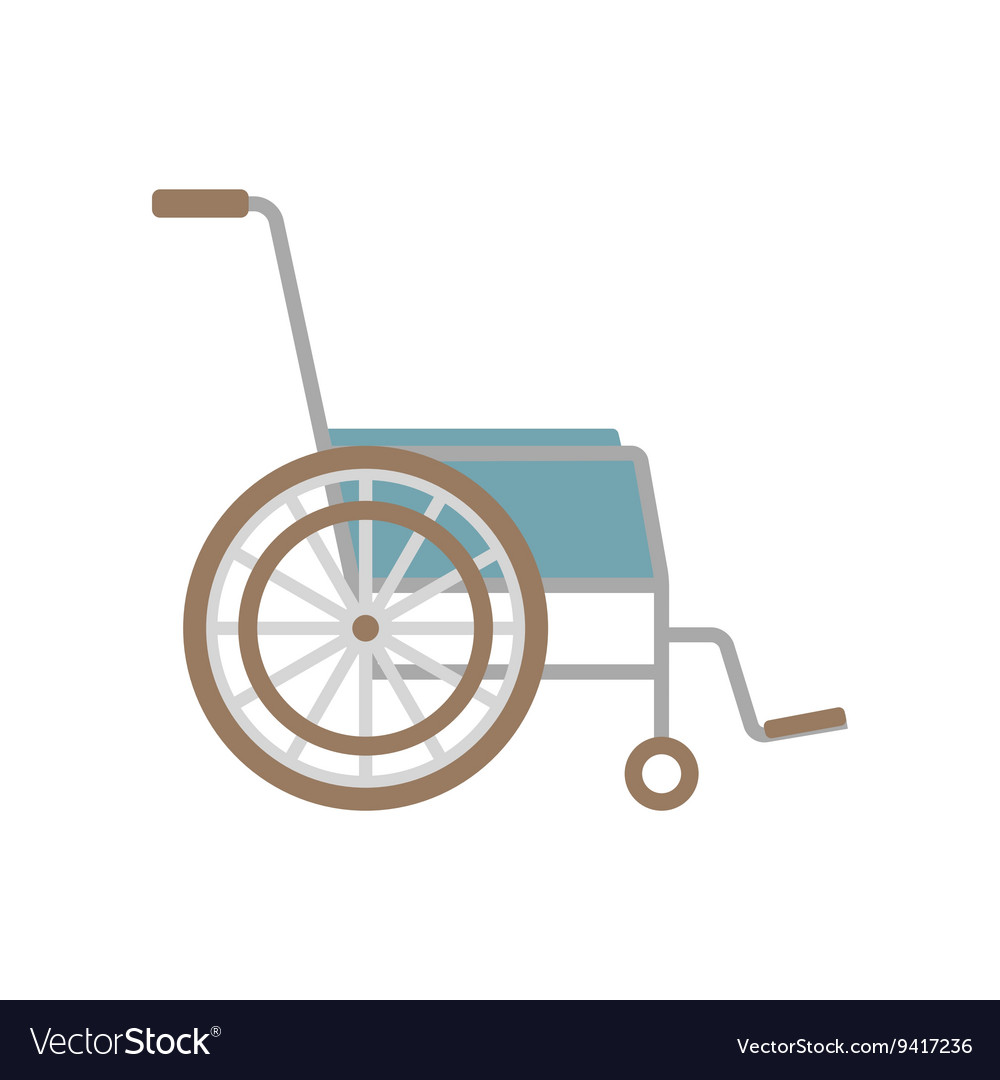 Flat wheelchair icon