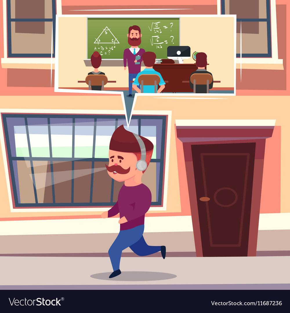 Learning While Running Composition vector image