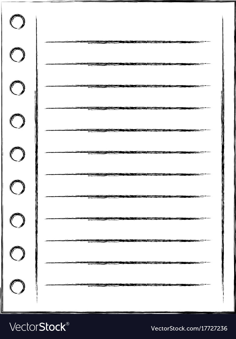 lined paper note page blank school royalty free vector image