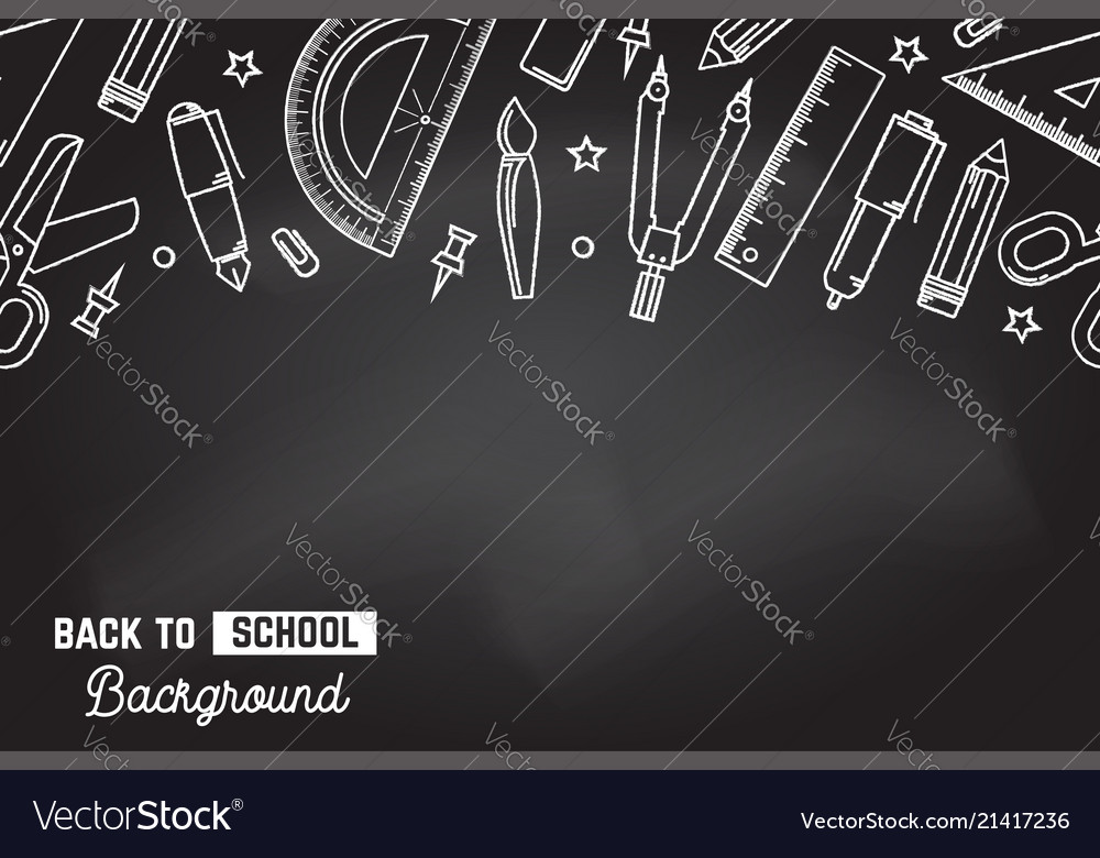 Seamless pattern with school supplies stationery