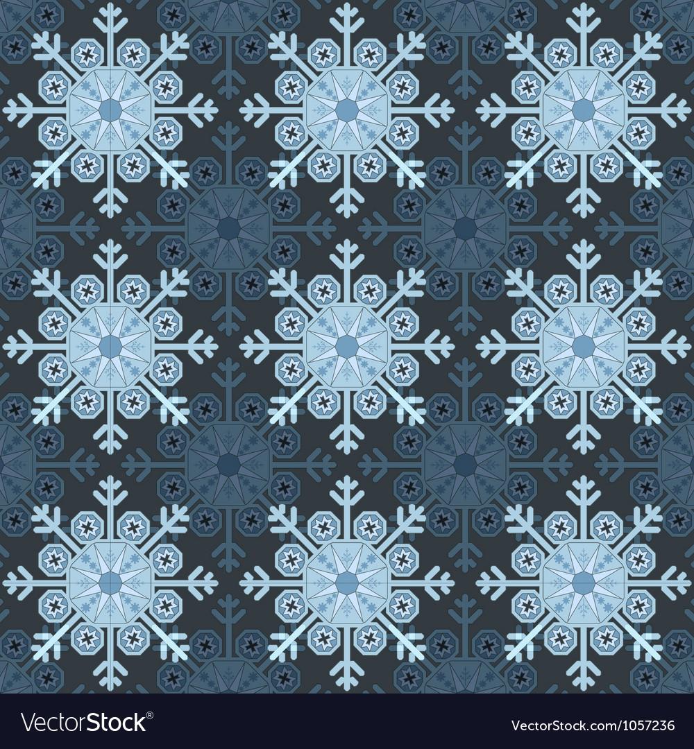 Seamless Snowflake vector image