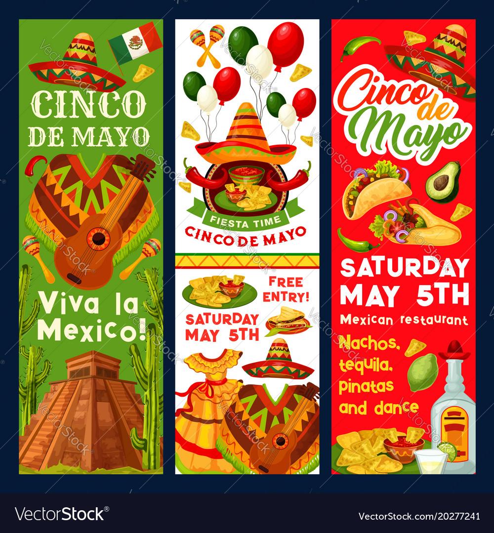 Cinco De Mayo Mexican Fiesta Invitation Vector Image