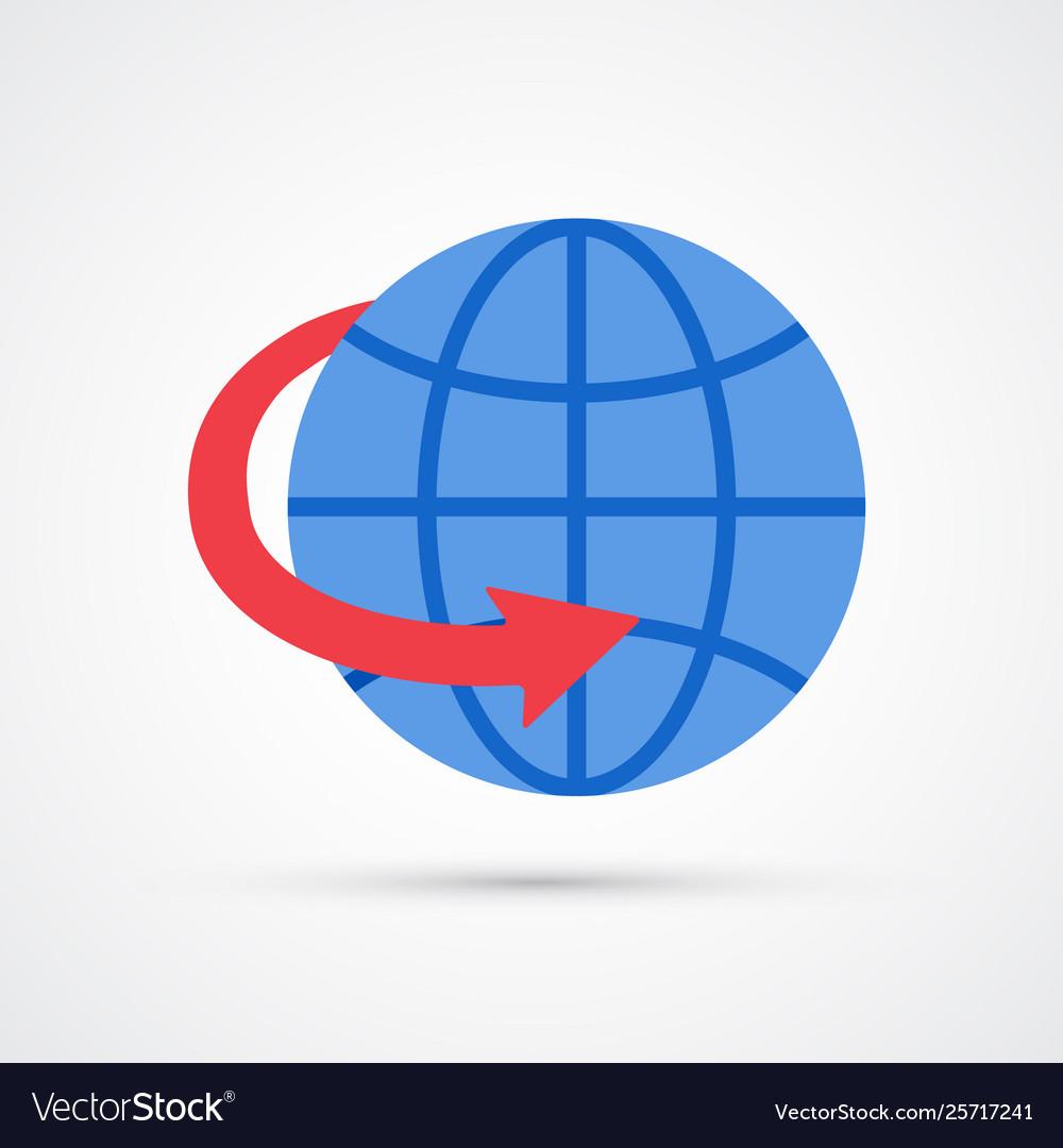 Colored worldwide trendy symbol
