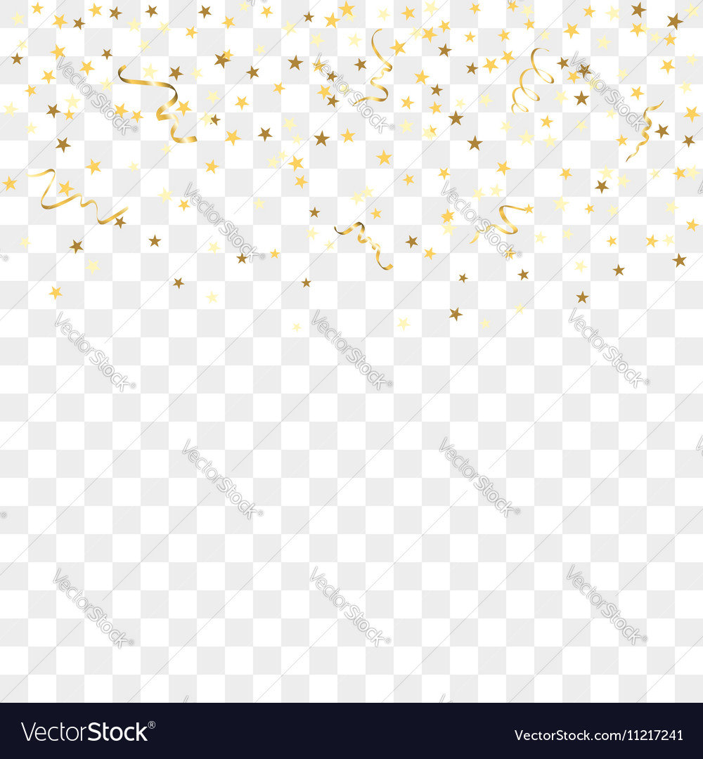 gold confetti background royalty free vector image