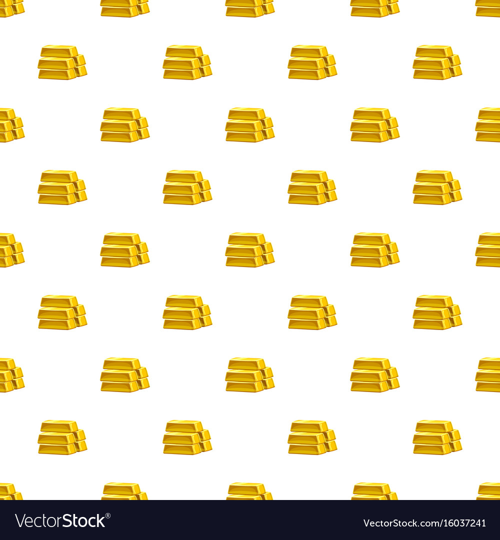 Stack of gold bars pattern vector image