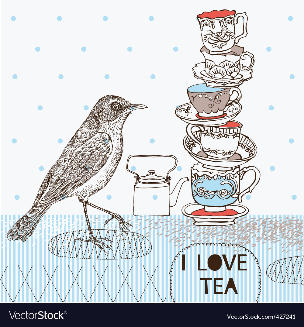 Tea 7 vector image