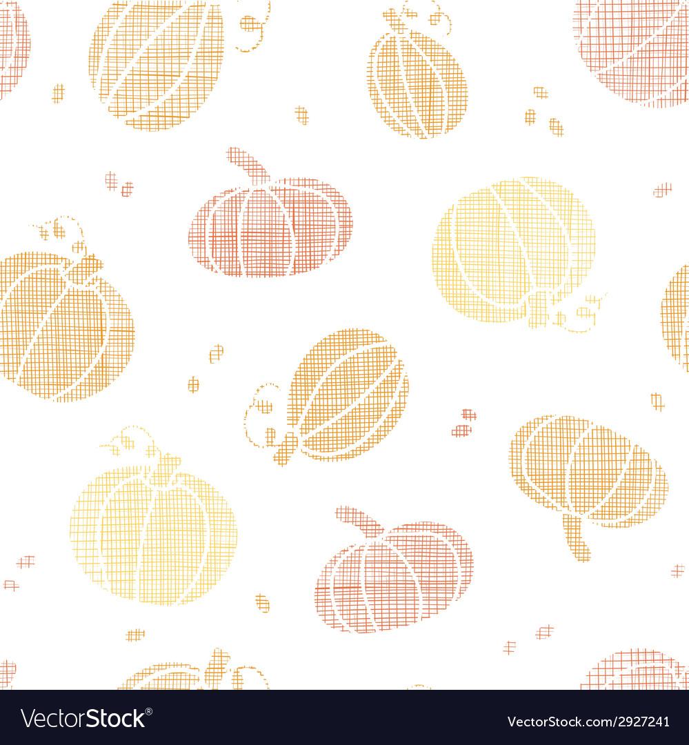 Thanksgiving pumpkins textile seamless pattern