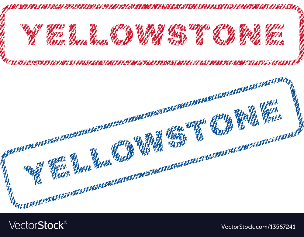 Yellowstone textile stamps vector image