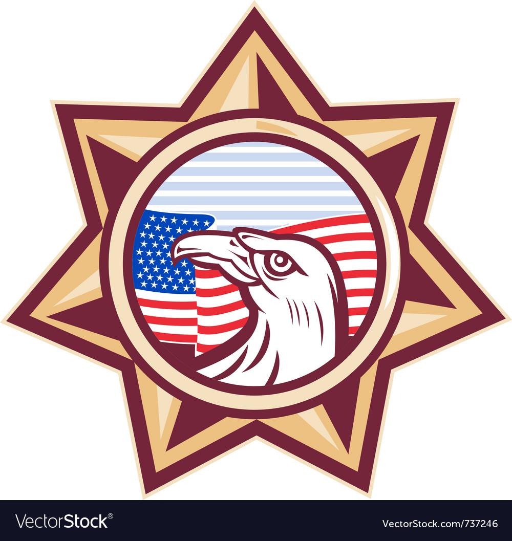 american sheriff badge royalty free vector image rh vectorstock com county sheriff badge vector sheriff badge vector free