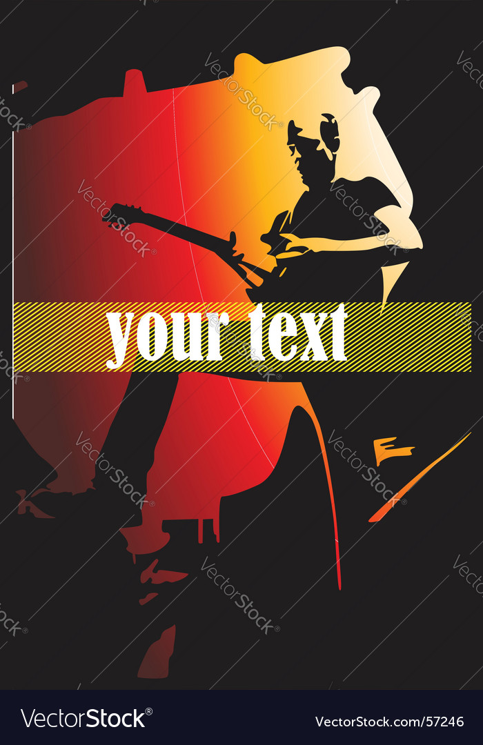 Band poster vector image
