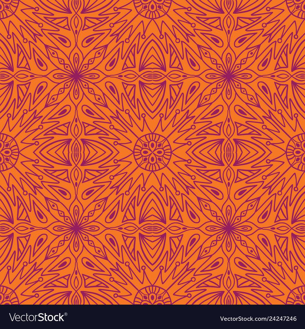 Geometric symmetrical seamless pattern