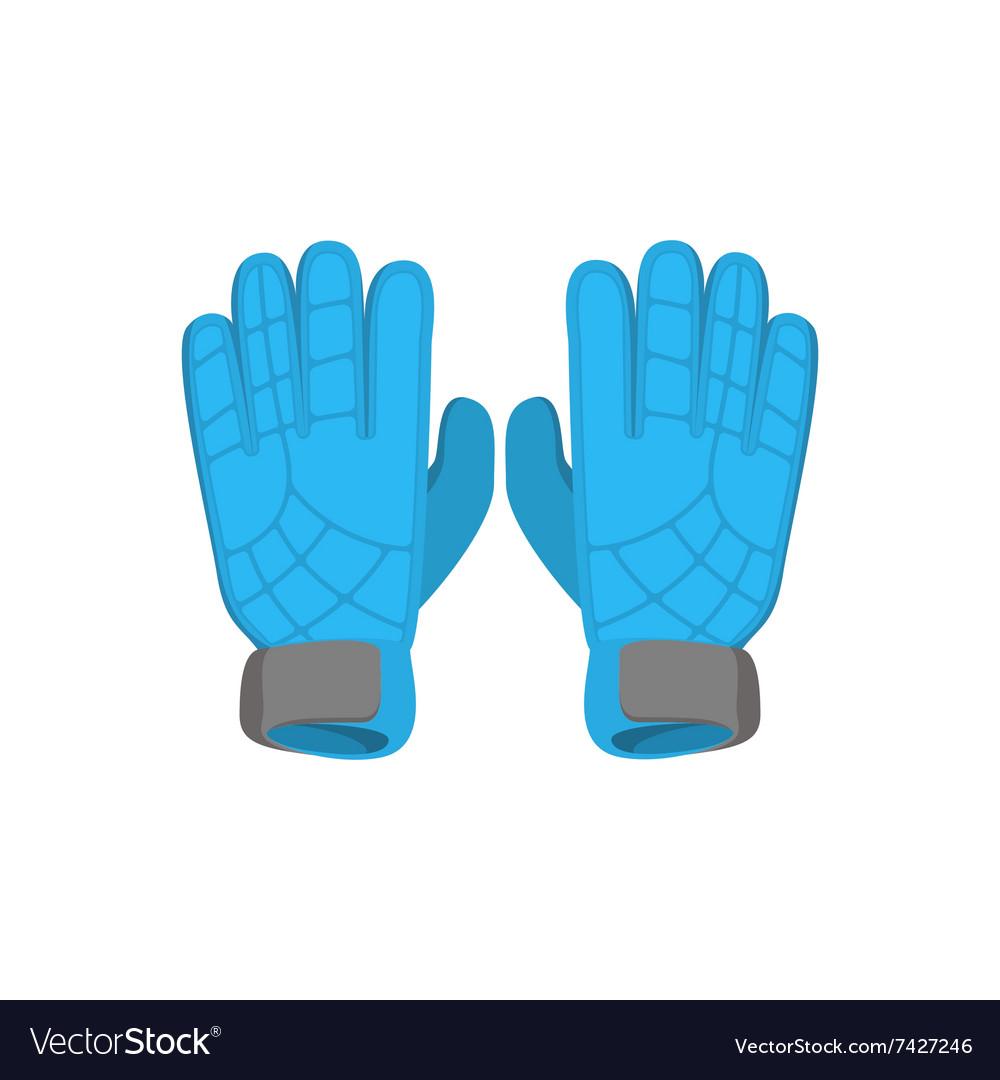Gloves goalkeeper cartoon icon