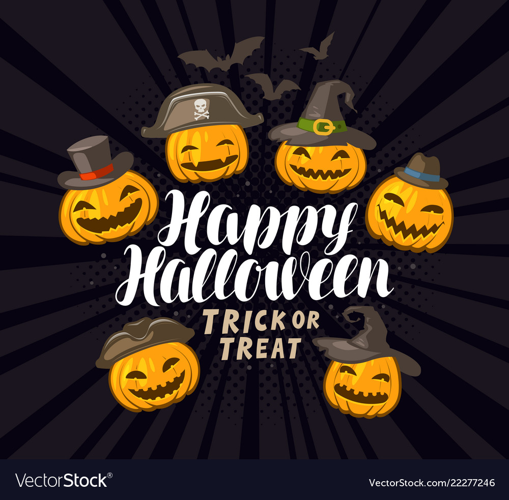 Happy halloween banner or greeting card holiday