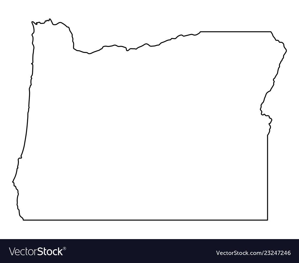 Free Oregon Map.Map Of Oregon Royalty Free Vector Image Vectorstock