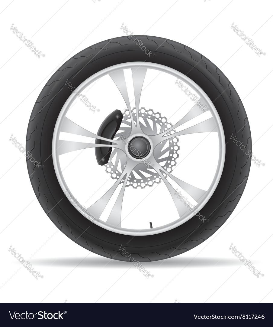 Motorcycle wheel 02 vector image