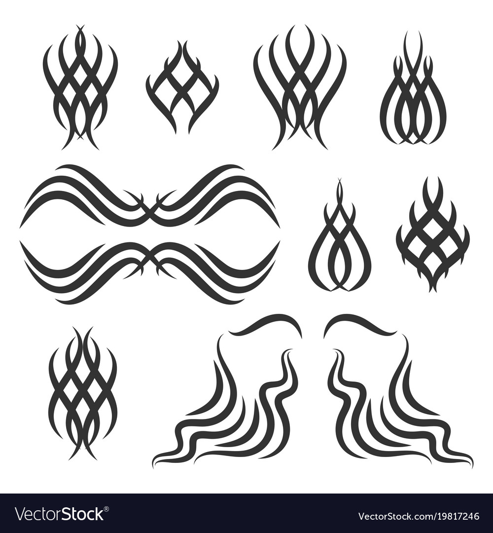 Simple Tribal Tattoo Elements Royalty Free Vector Image