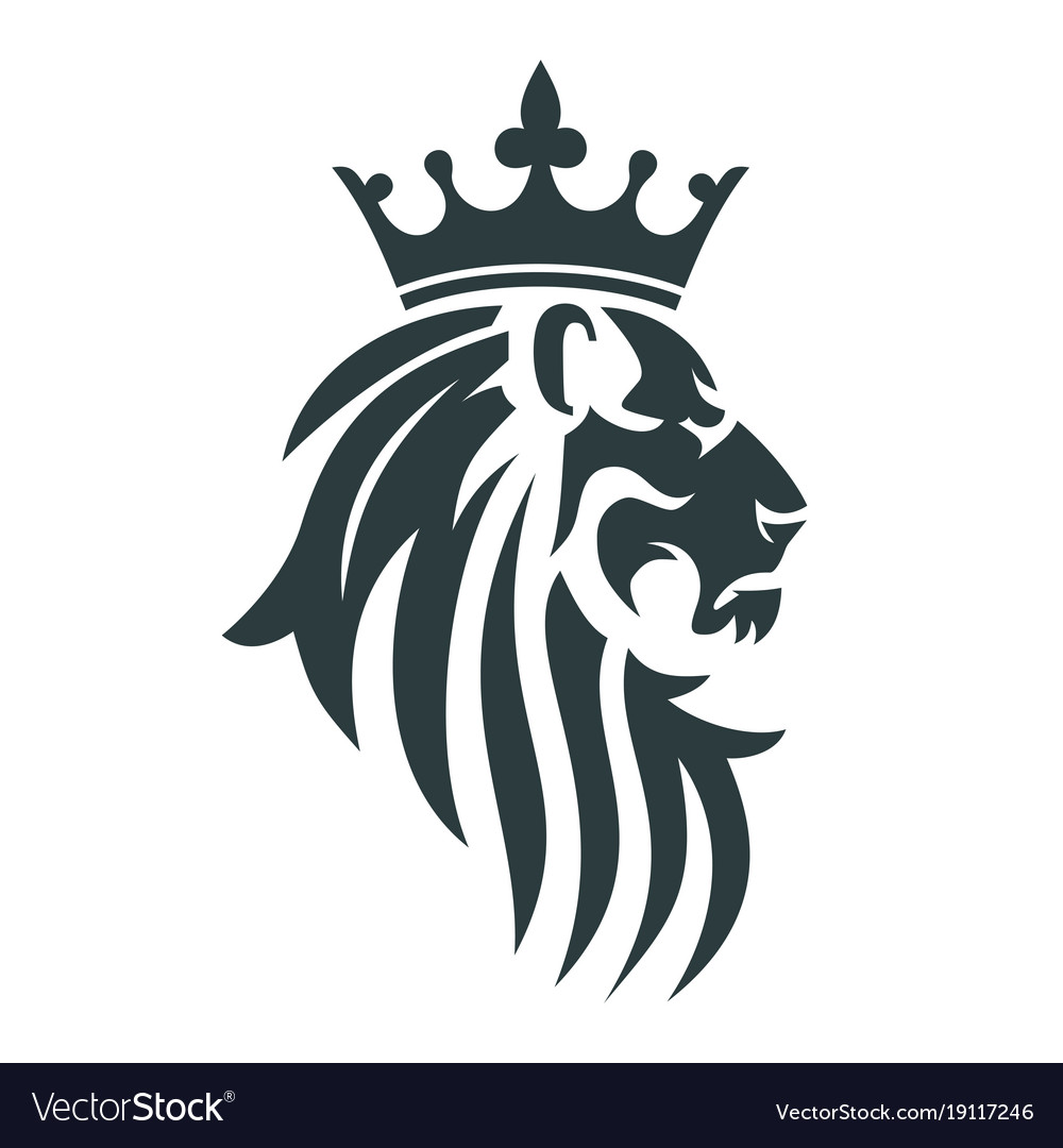 the head of a lion with a royal crown royalty free vector rh vectorstock com royalty vector designs royalty vector free download
