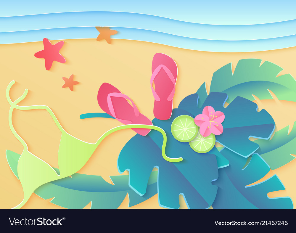 Top view summer holidays poster