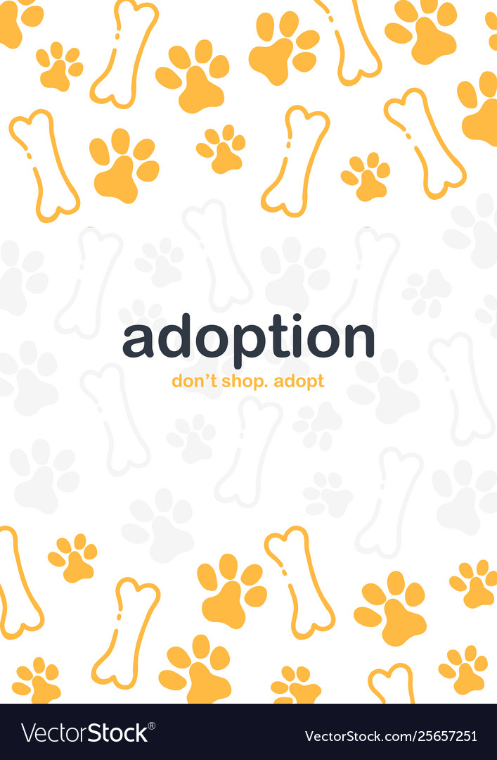 Adoption Dont Shop Adopt Banner With Cat Or Dog Vector Image