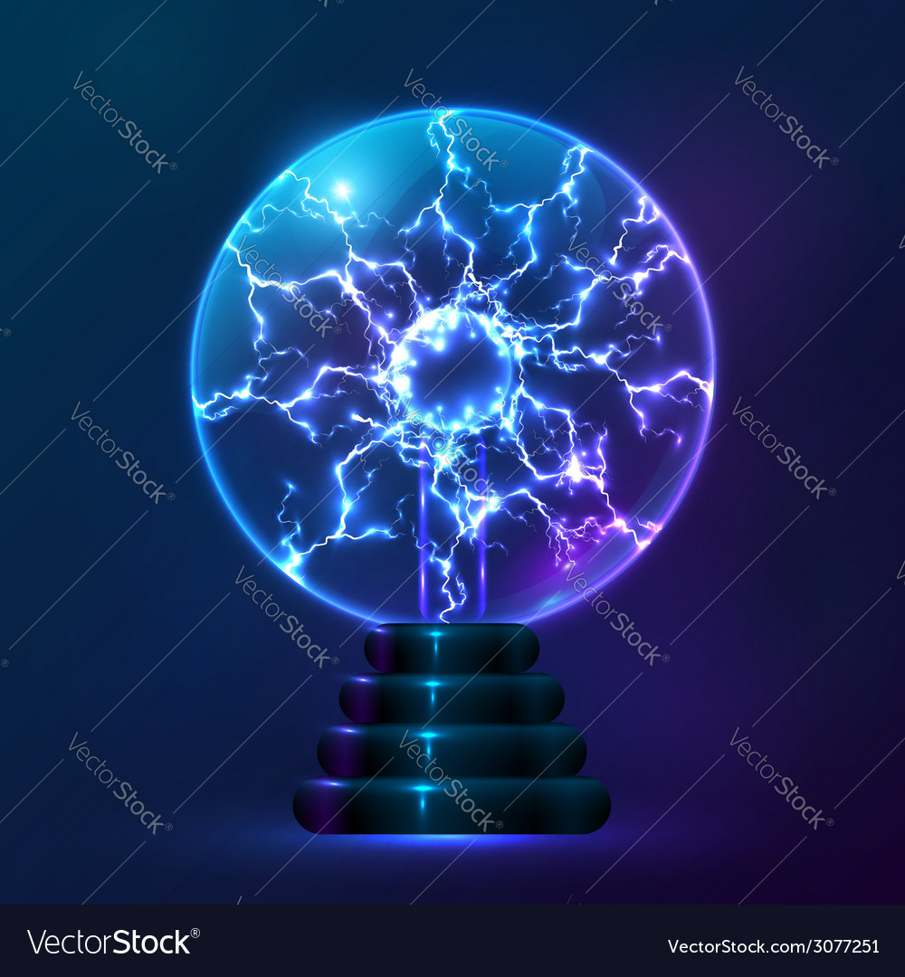 Blue plasma ball lamp