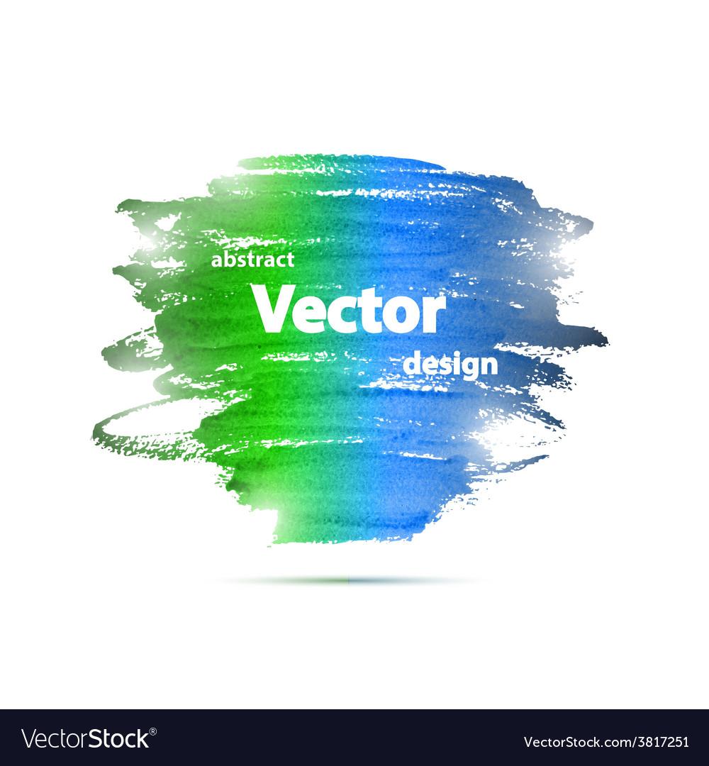 Brochure Watercolor Grunge Design Template