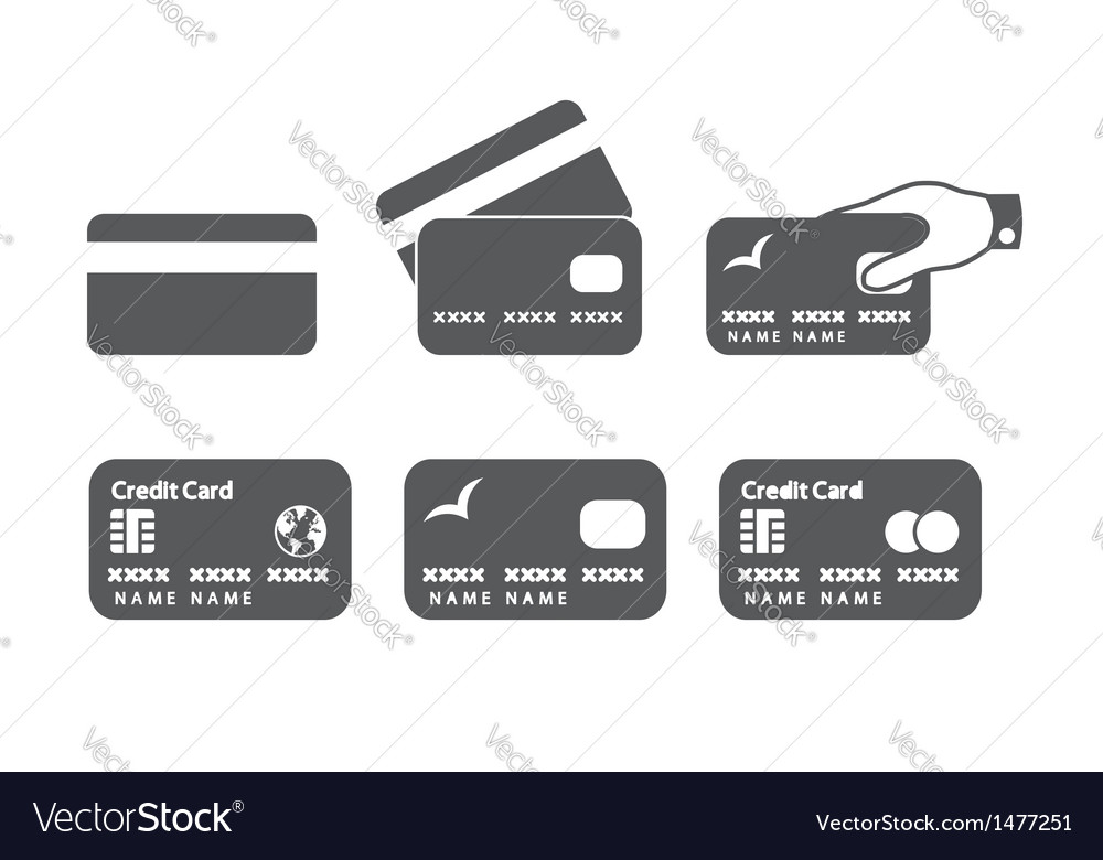 credit card icons royalty free vector image vectorstock rh vectorstock com Credit Card Logos for Website free vector credit card icons