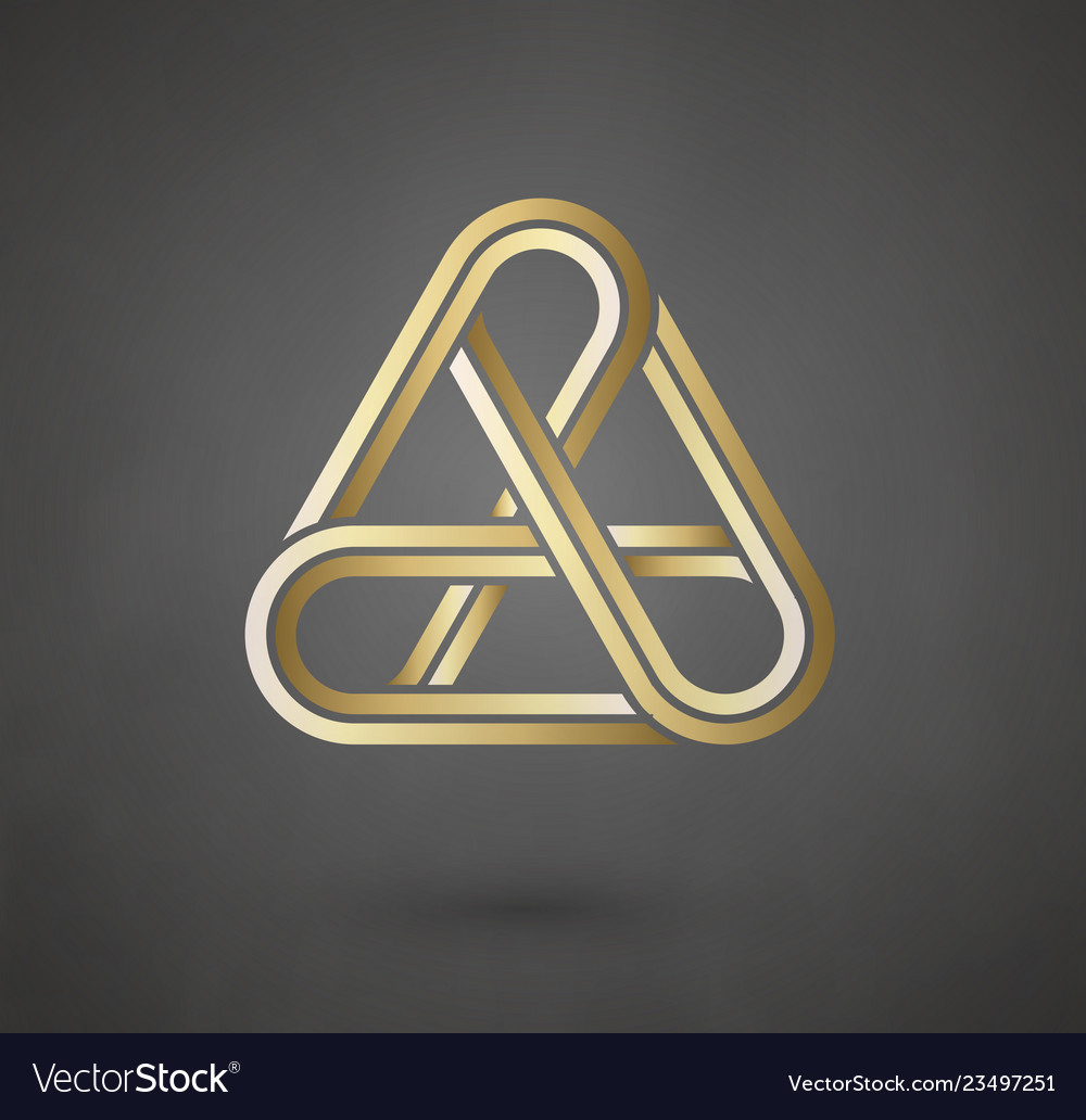 Gold logo design sign for business company