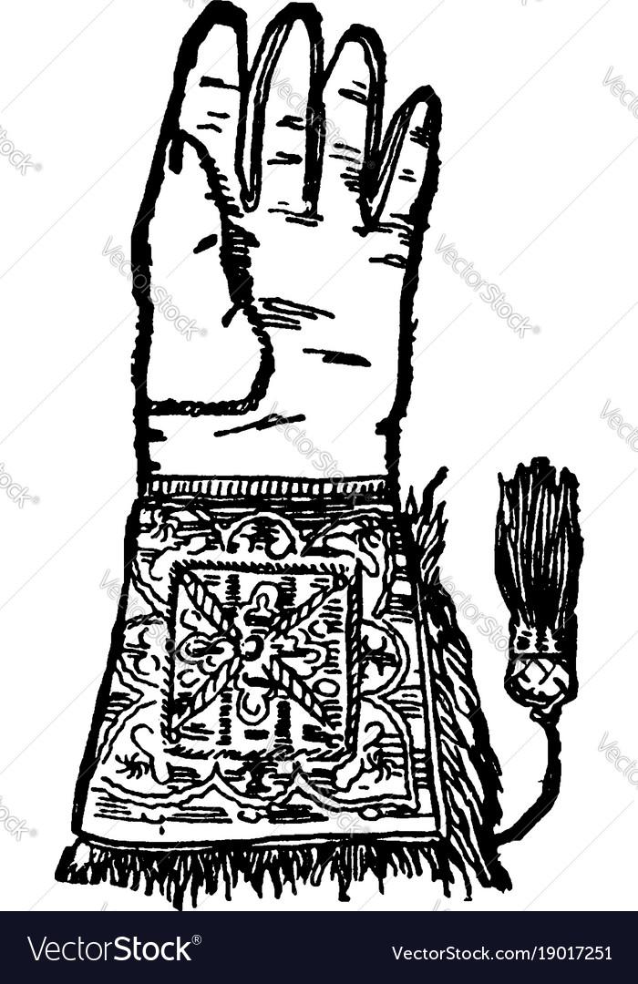 Hawking glove vintage