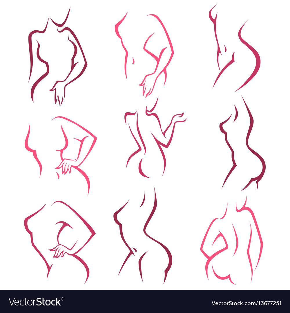 Intimate hygiene lady poses collection for your vector image