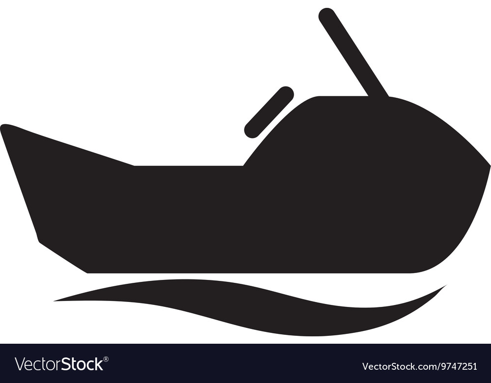 Jet ski isolated icon design vector image