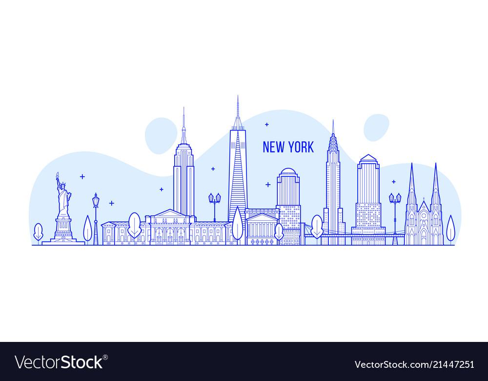New york skyline usa city buildings