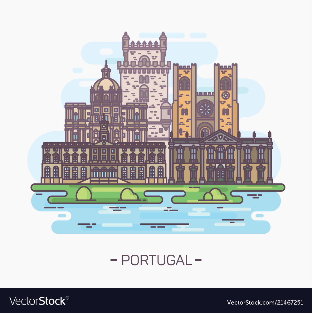 Religious and medieval portuguese landmarks