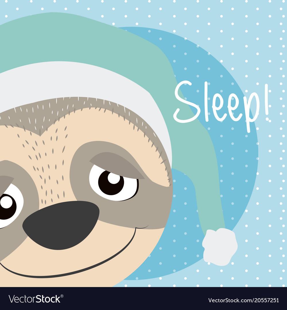 Sloth cute animal cartoon