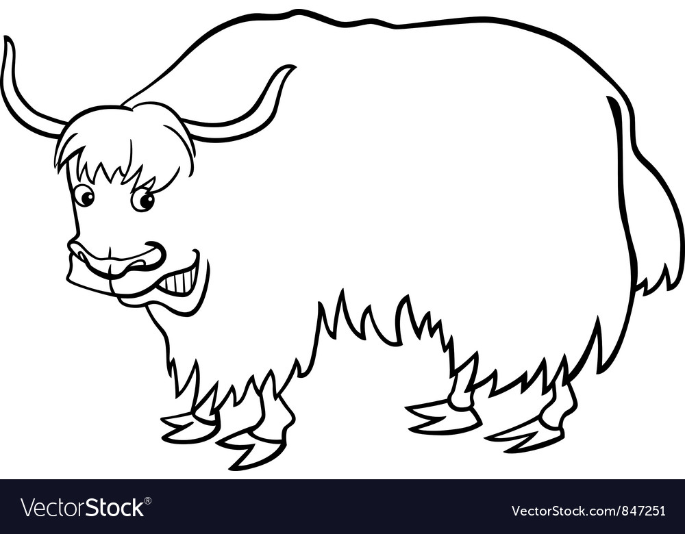 Yak for coloring vector