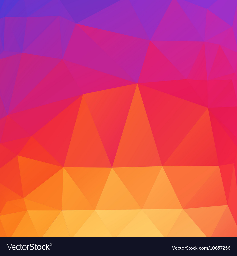 Beautiful color abstract polygonal background