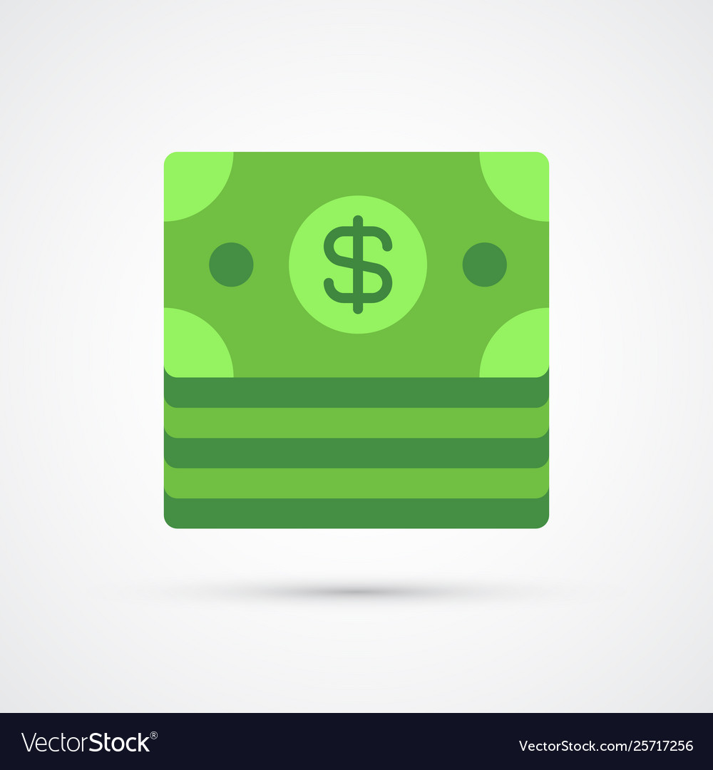 Dollar trendy symbol trendy colored