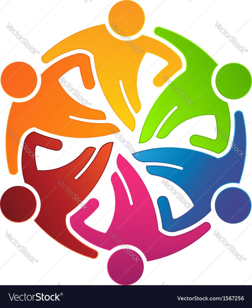 People Team Hugging 6 Logo