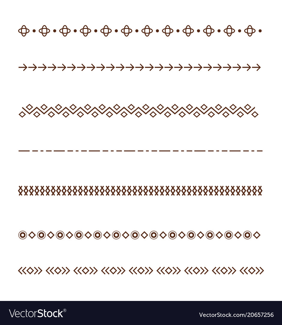 Set dividers isolated on white background vector image