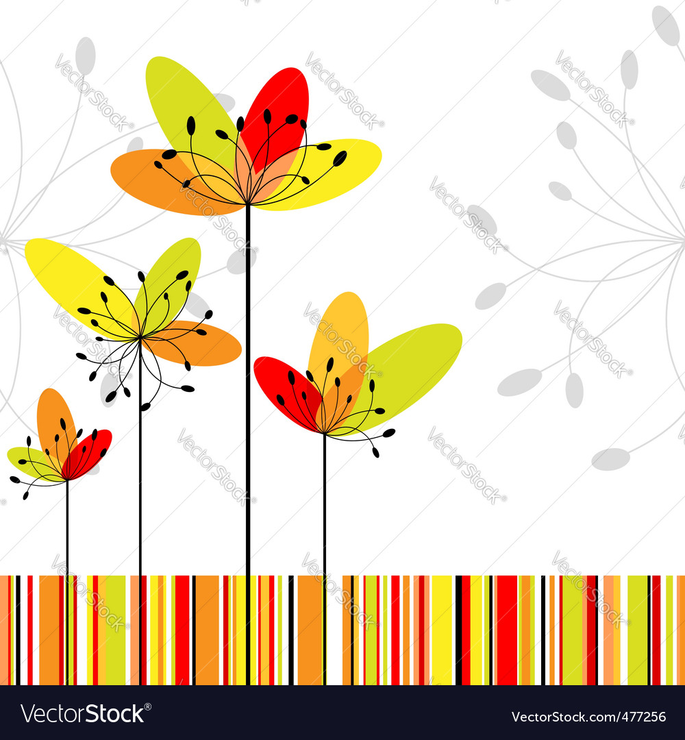 Springtime abstract vector image