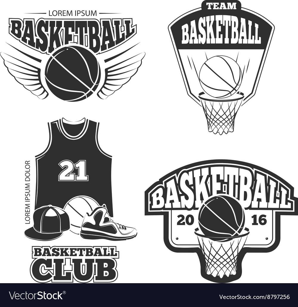 Vintage basketball vintage emblems labels