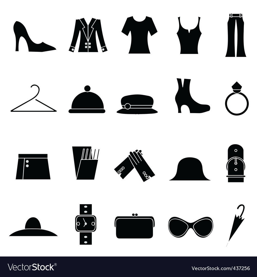 Woman Fashion And Clothes Icon Royalty Free Vector Image