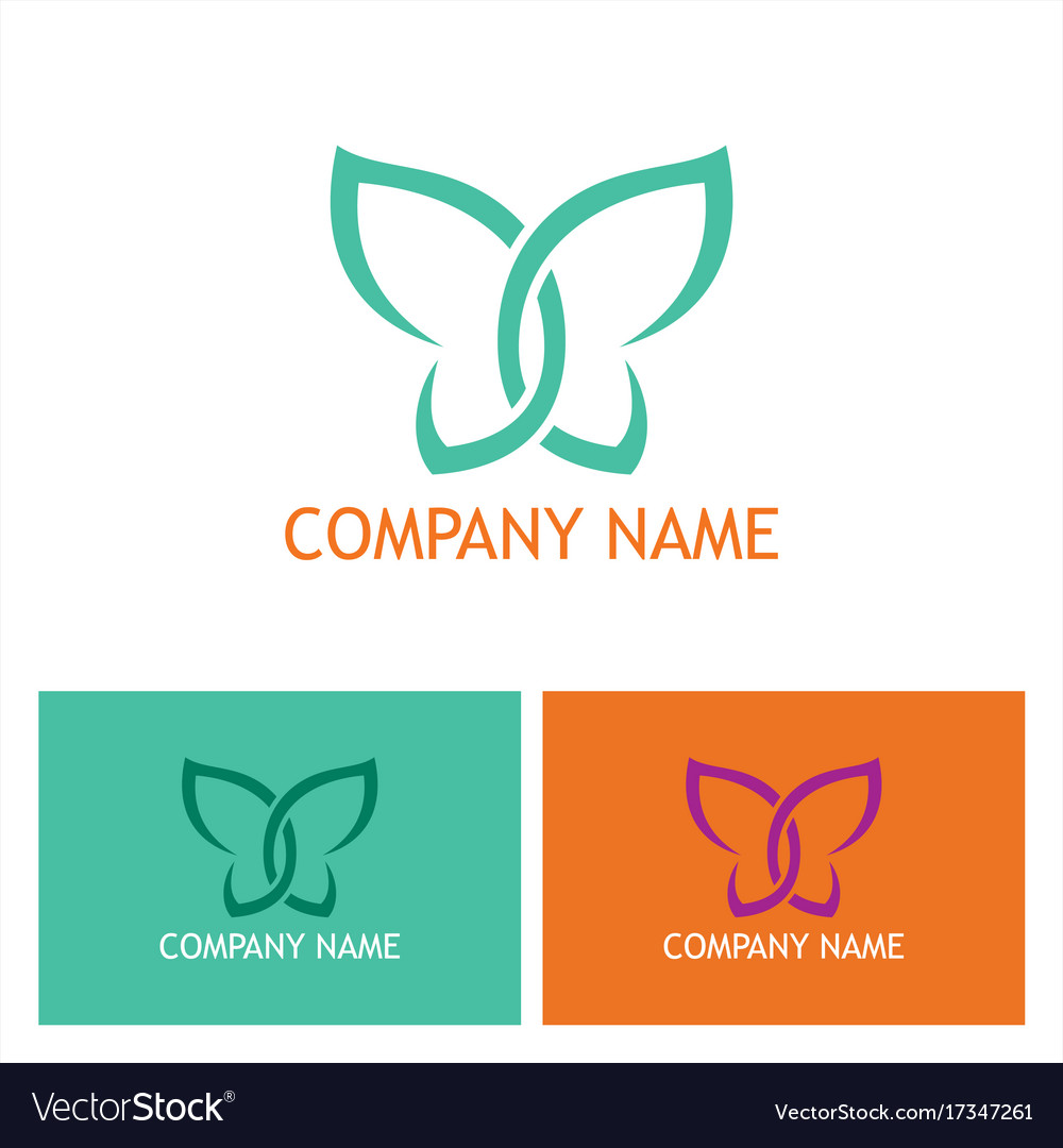 Abstract butterfly beauty logo